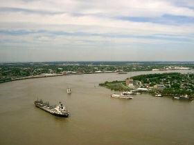 "2,500 Miles of the Mississippi River -- Plus Hundreds of Other Examples from All Over the World -- ""Prove"" that Even Massive Rivers Just Don't Create Mile-Deep Canyons."