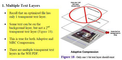 Garrett Papit Claimed that an Optimized File Can Have Only One Text Layer.